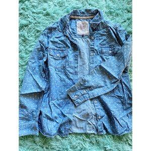 Blue Button-Up Long Sleeve